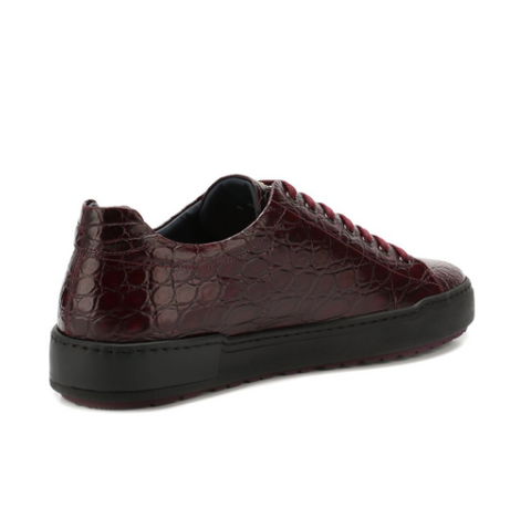 Zilli Cayman Maroon Leather Sneakers