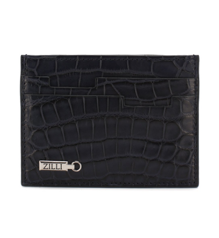 Zilli Alligator Credit Card Case
