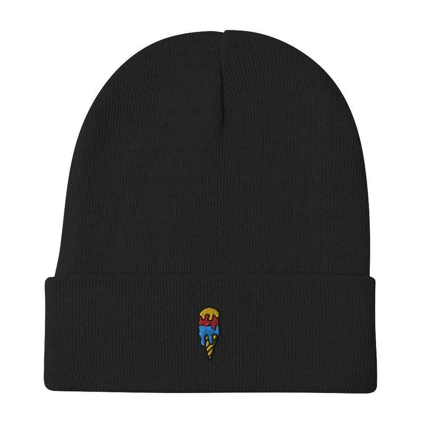 dadrack Beanie Black Beanie - Ice Cream Cone
