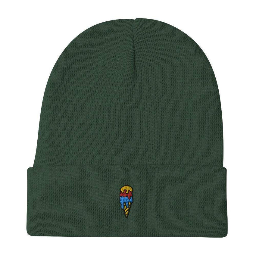 dadrack Beanie dark green ice cream cone beanie
