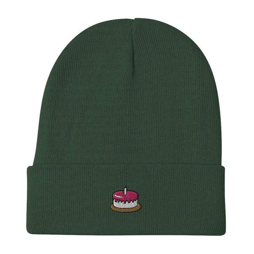 dadrack Beanie dark green the cake is a lie beanie