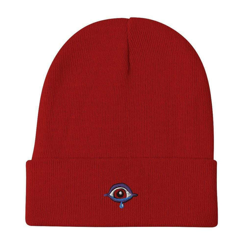 dadrack Beanie Red Beanie - Sad Cyclops