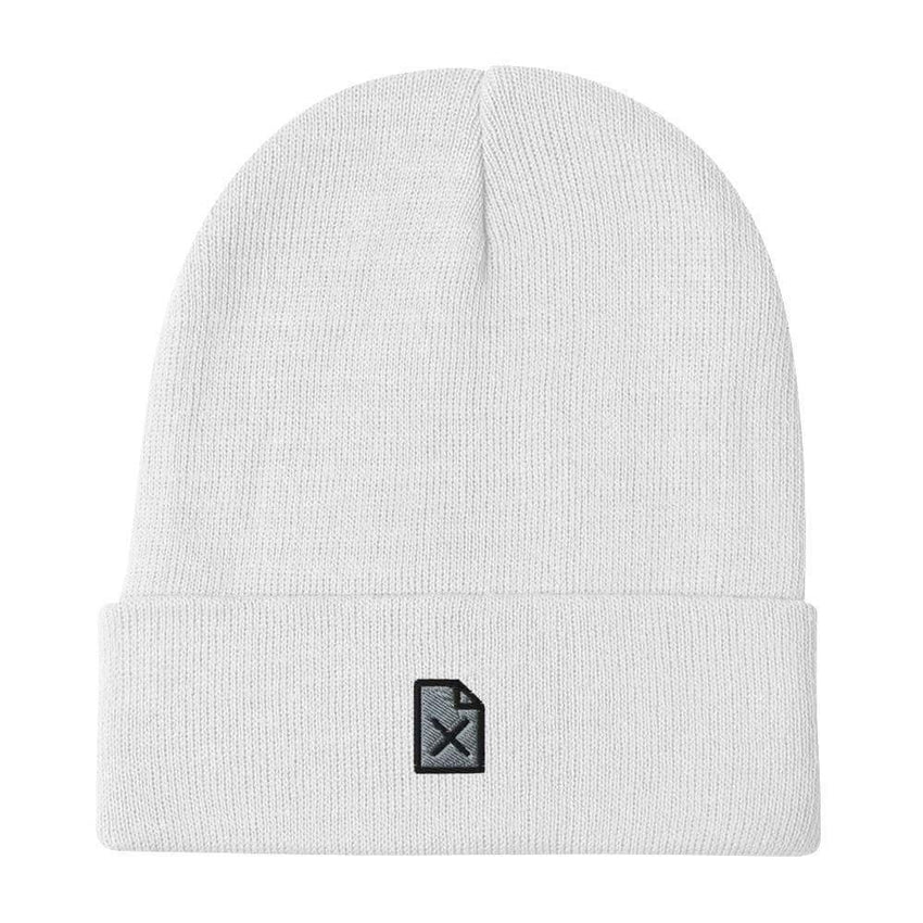 dadrack Beanie White Beanie - File Not Found