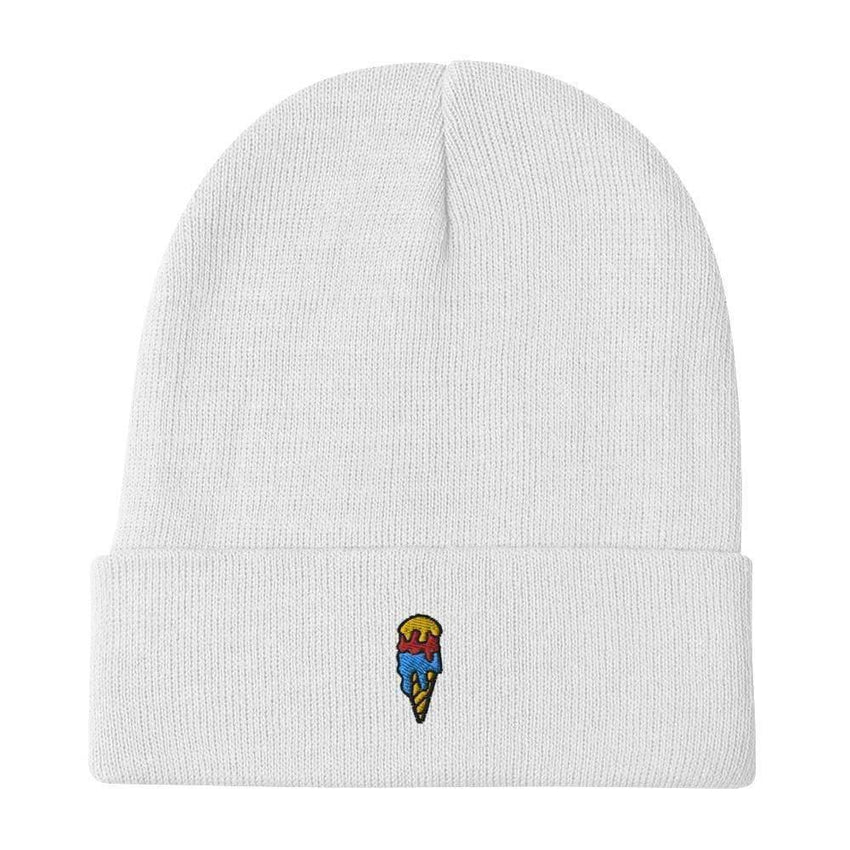 dadrack Beanie White Beanie - Ice Cream Cone