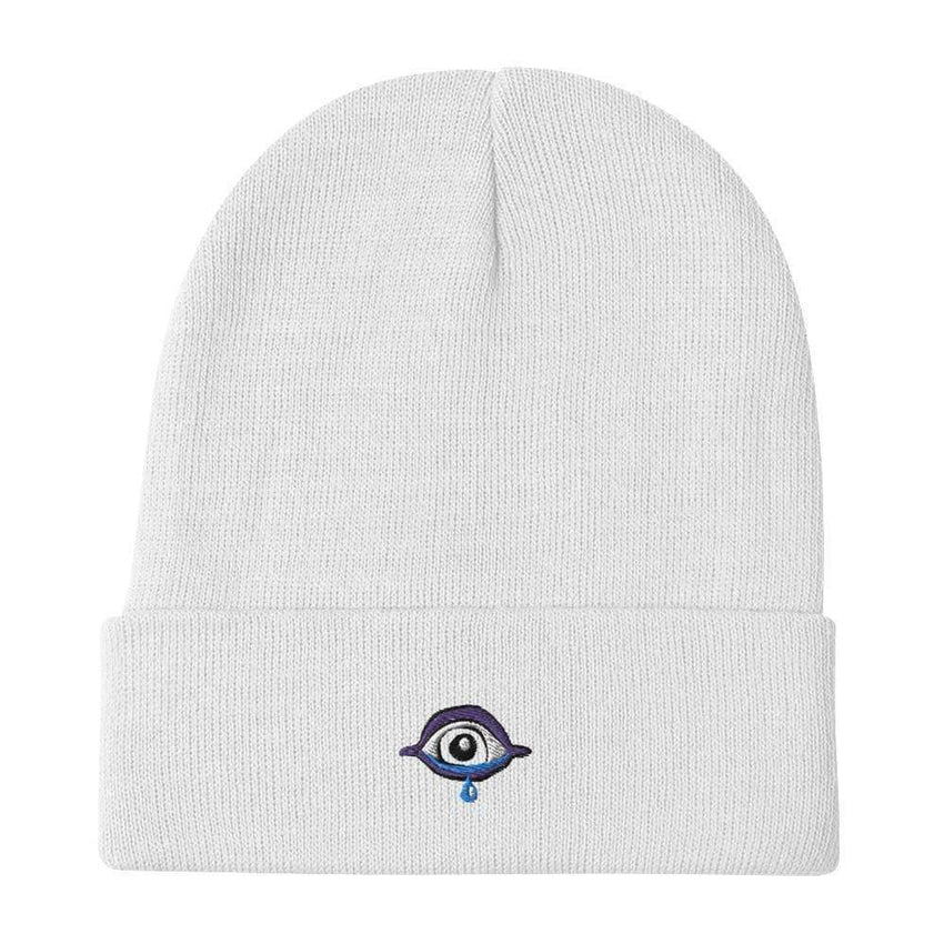 dadrack Beanie White Beanie - Sad Cyclops