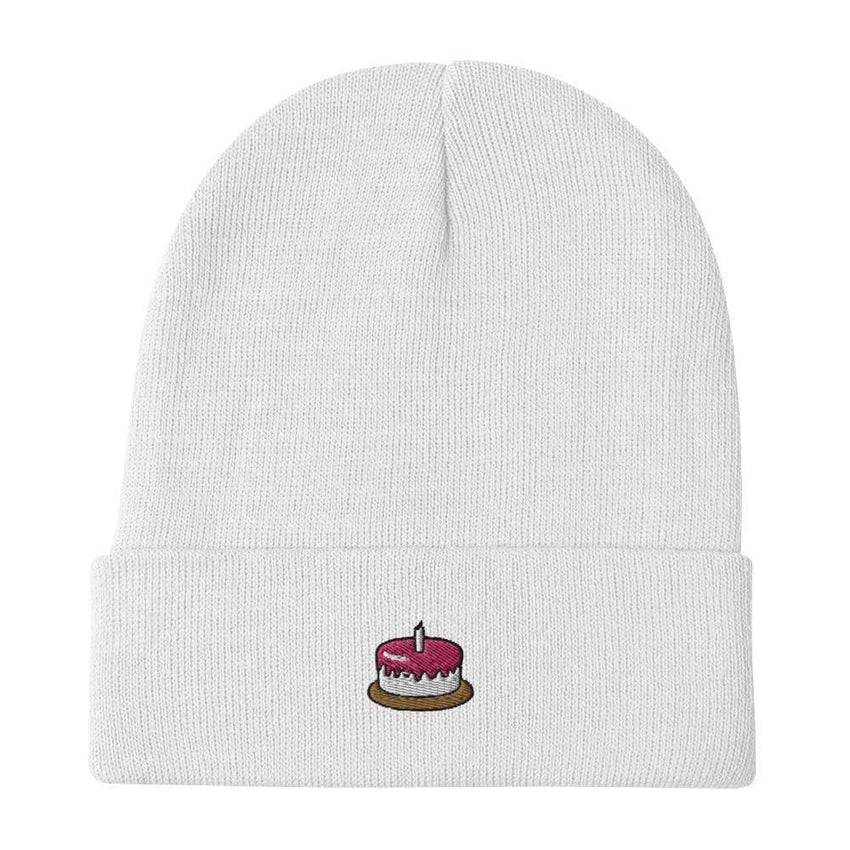 dadrack Beanie White Beanie - The Cake Is A Lie
