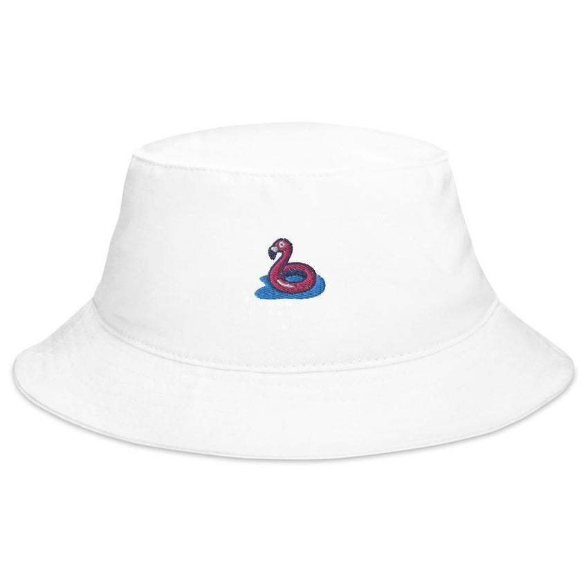 flamingo floaty bucket hat