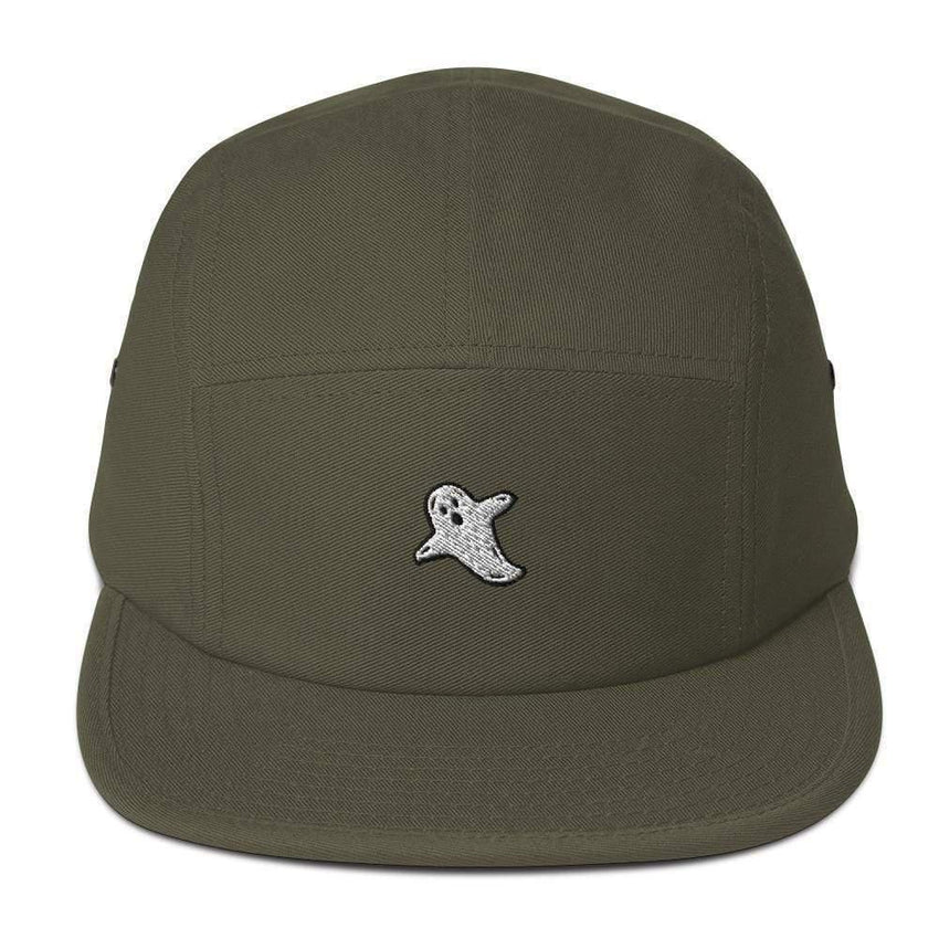 dadrack Camp Hat olive camp hat - a friendly ghost