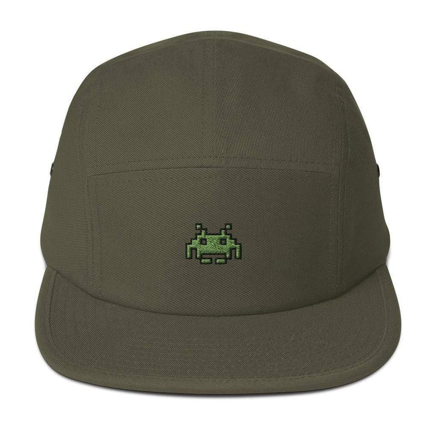 dadrack Camp Hat olive camp hat - space invaders