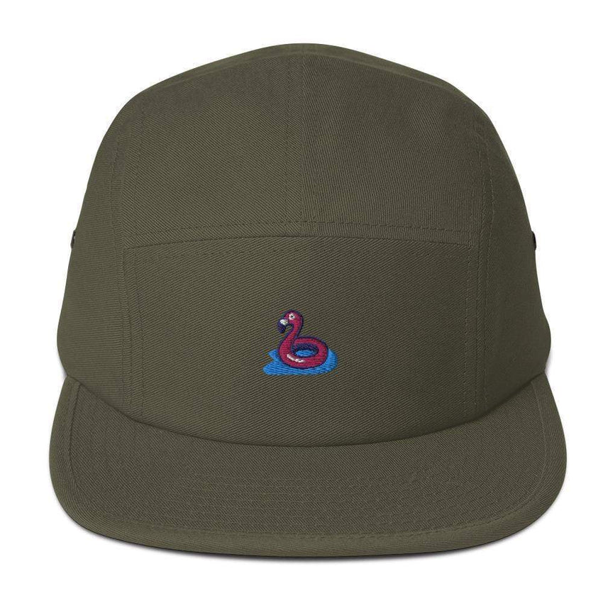 dadrack Camp Hat olive flamingo floaty camp hat