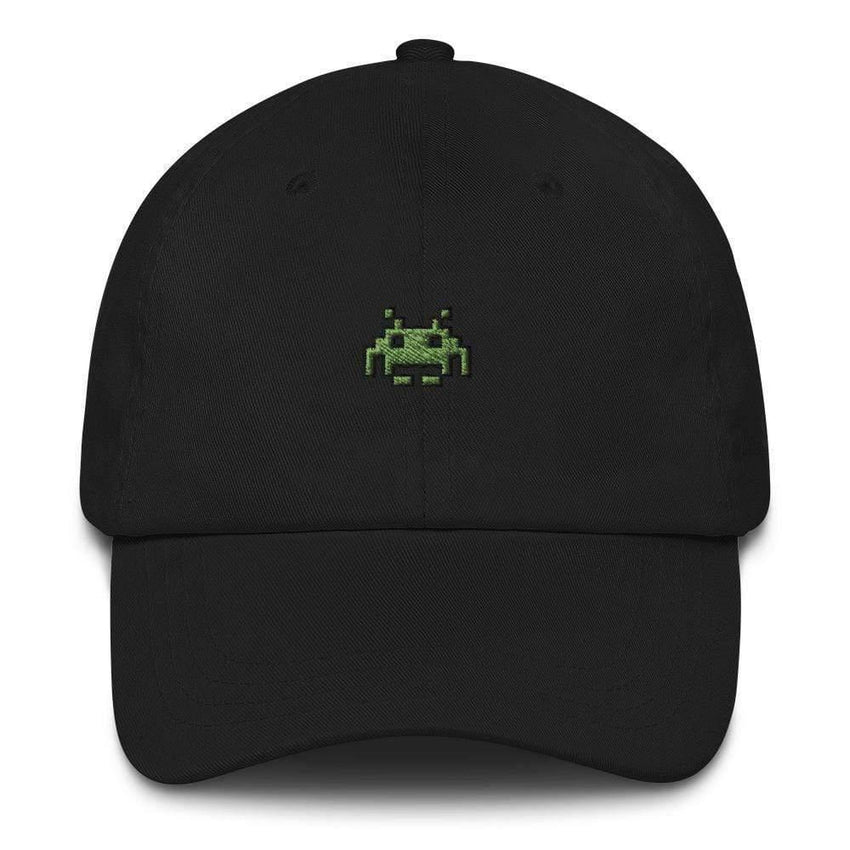 dadrack Dad Hat black dad hat - space invaders