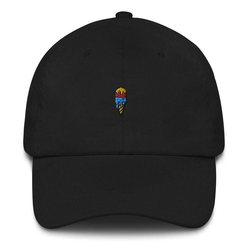 dadrack Dad Hat black ice cream cone dad hat