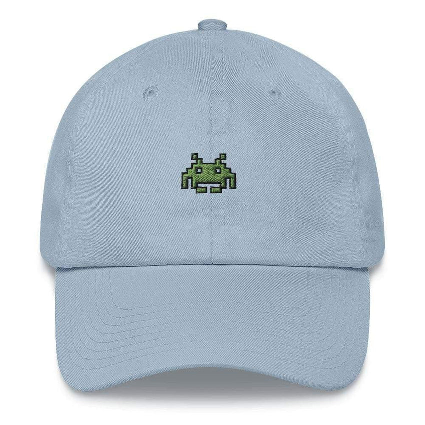 dadrack Dad Hat blue dad hat - space invaders