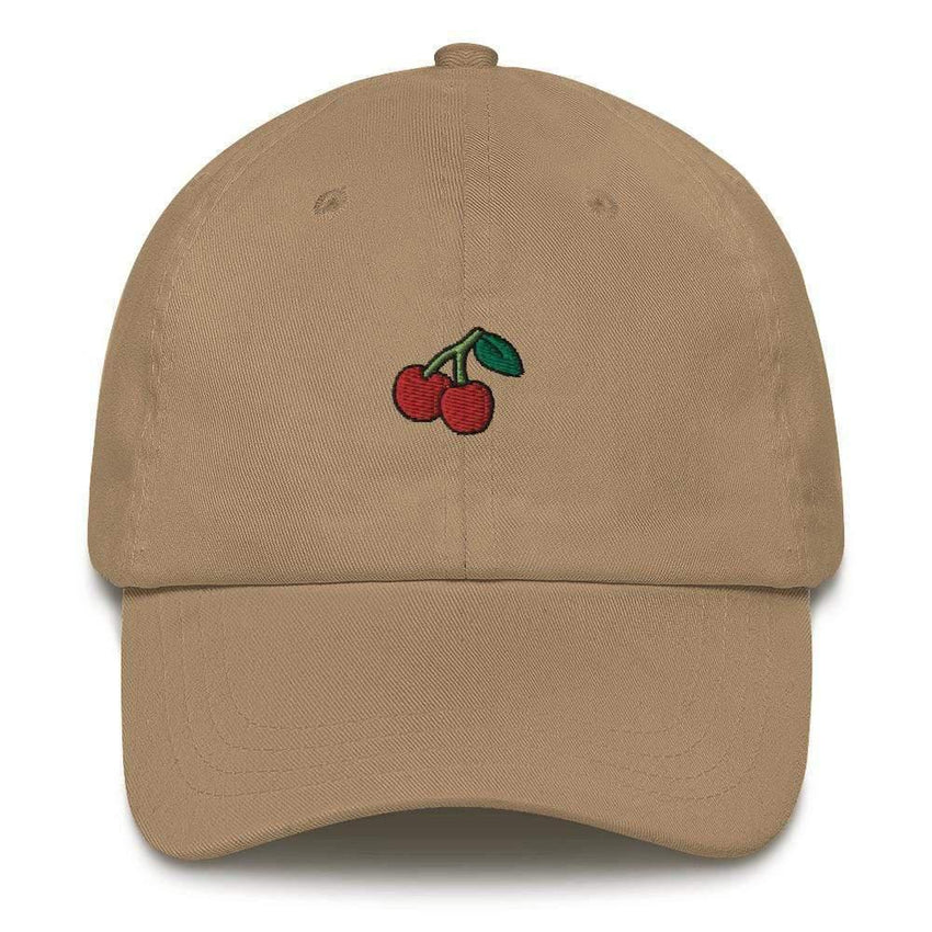 dadrack Dad Hat khaki dad hat - cherry cherry