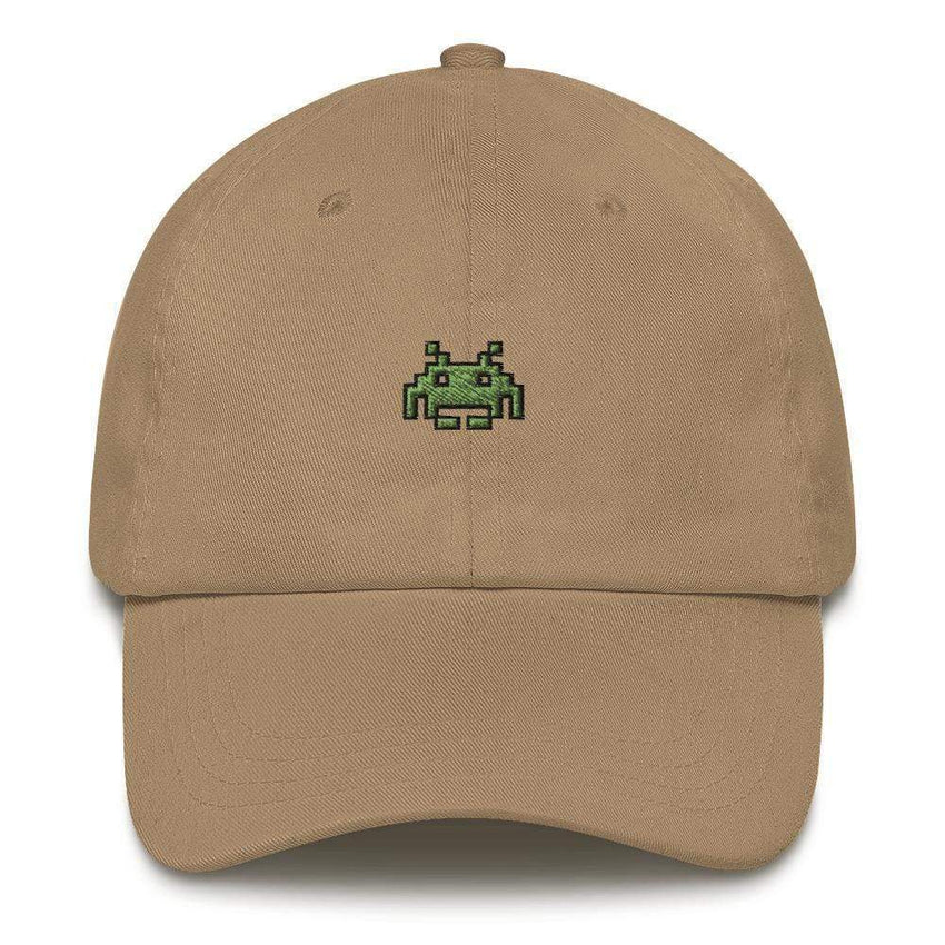 dadrack Dad Hat khaki space invaders dad hat