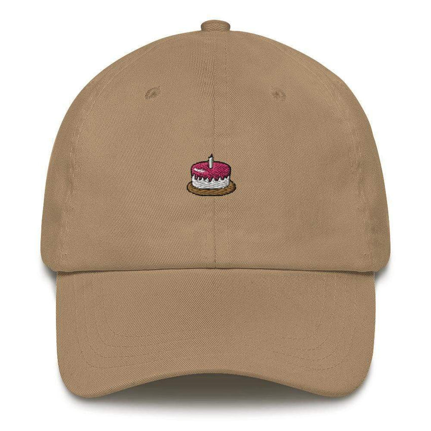 dadrack Dad Hat khaki the cake is a lie dad hat
