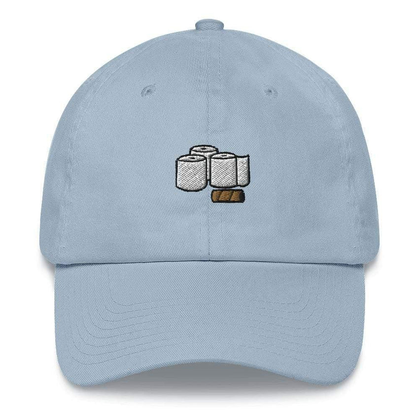 Dadrack Dad Hat Light Blue toilet paper rolls dad hat