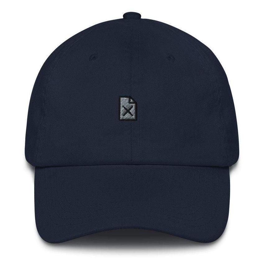 dadrack Dad Hat navy file not found dad hat