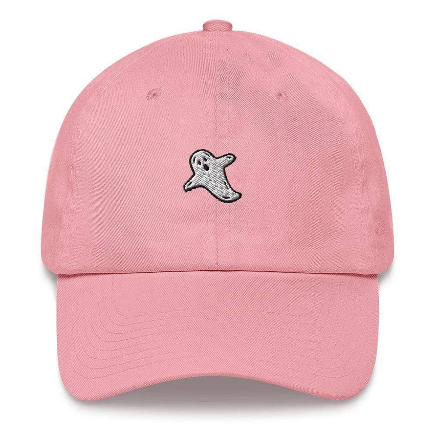 dadrack Dad Hat pink dad hat - a friendly ghost