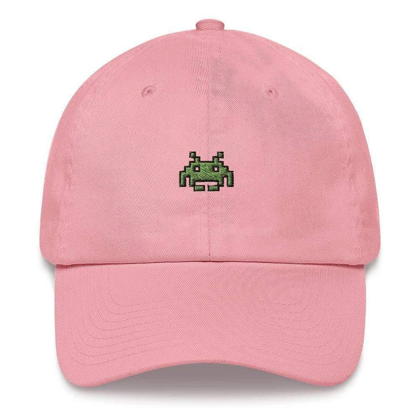 dadrack Dad Hat pink dad hat - space invaders