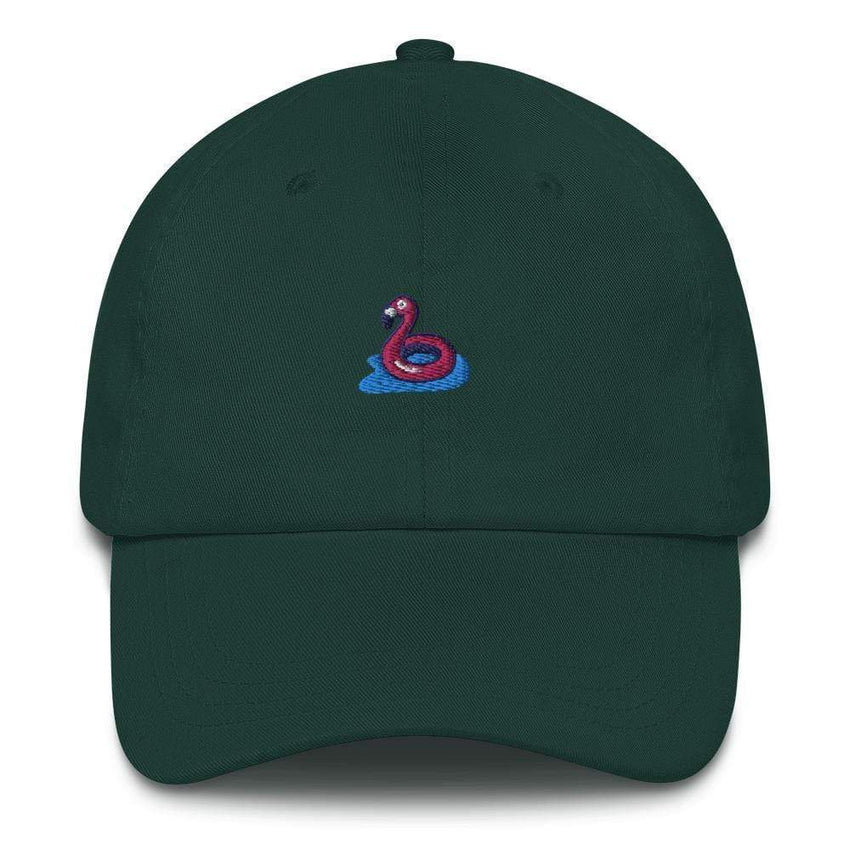 dadrack Dad Hat spruce flamingo floaty dad hat