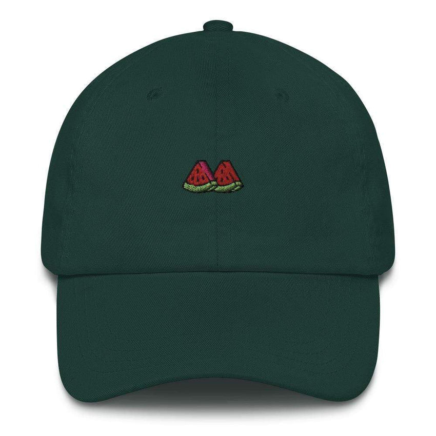 dadrack Dad Hat spruce watermelon slice dad hat