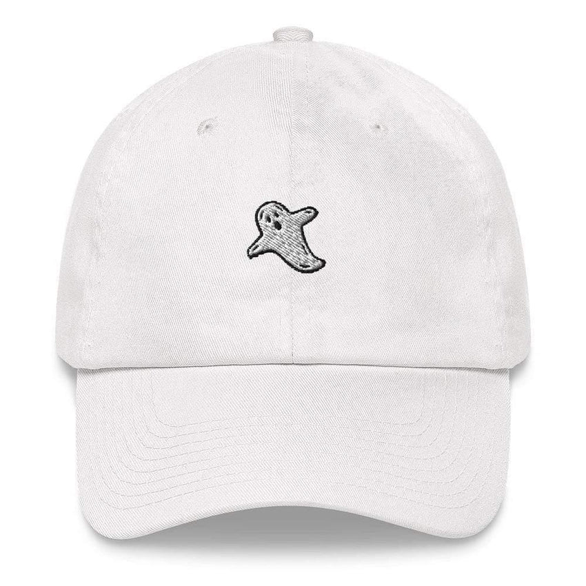 dadrack Dad Hat white dad hat - a friendly ghost