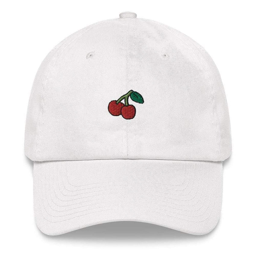 dadrack Dad Hat white dad hat - cherry cherry
