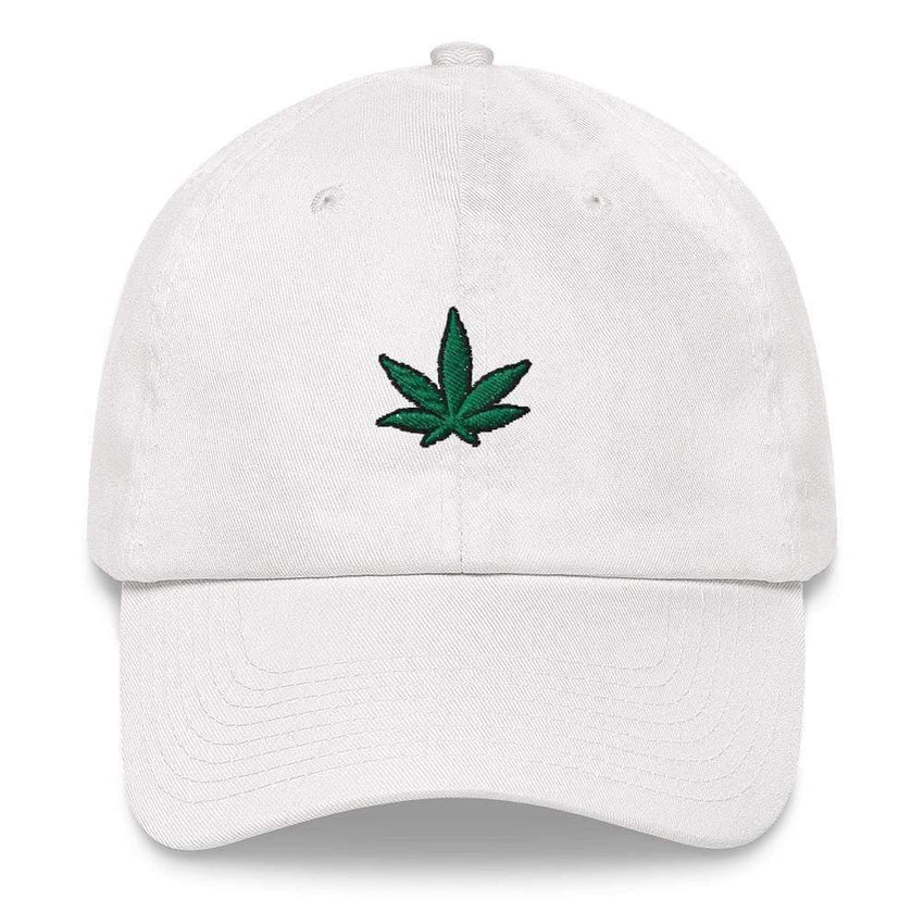 dadrack Dad Hat white dad hat - go green 420