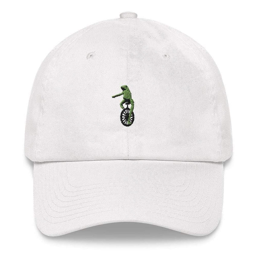 dadrack Dad Hat white dad hat - here comes dat boi