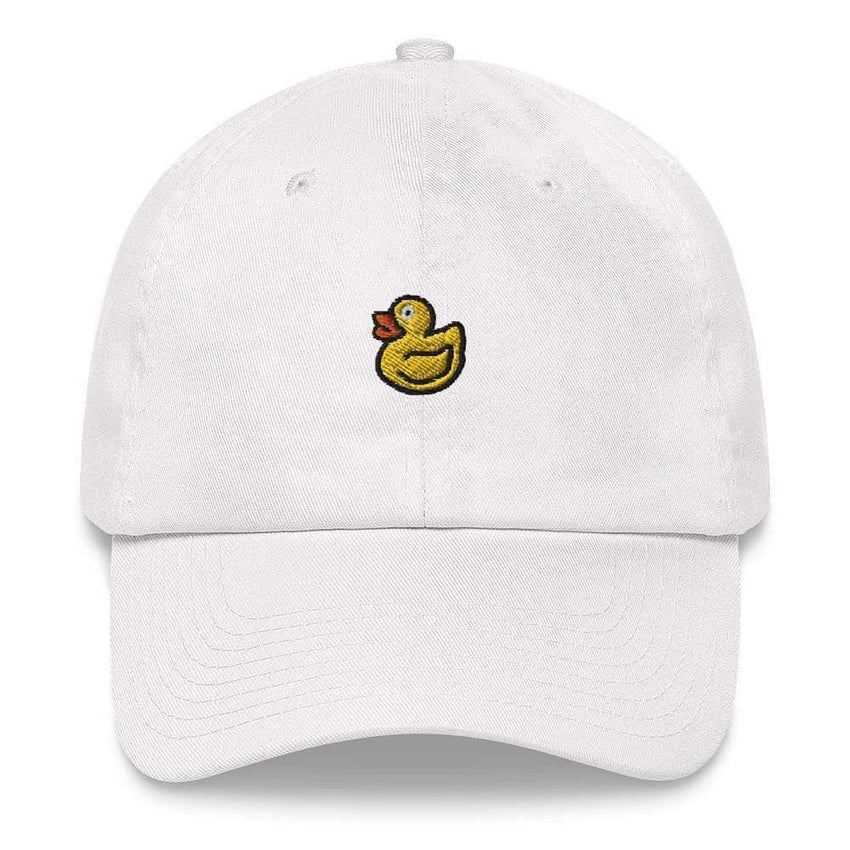 dadrack Dad Hat white dad hat - rubber ducky