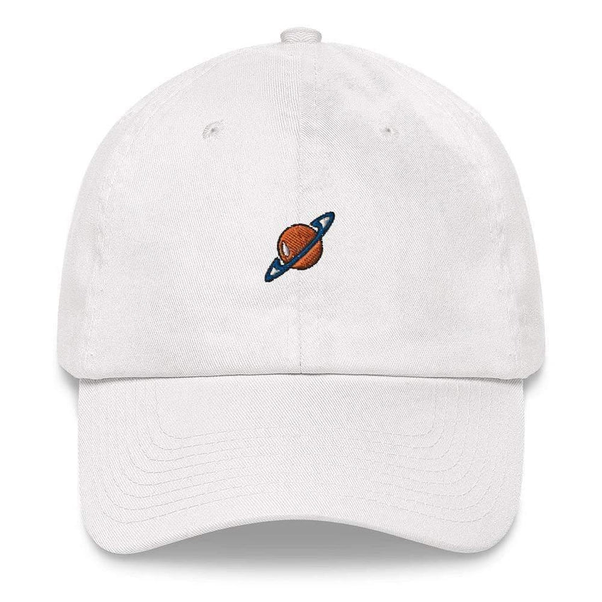 dadrack Dad Hat white dad hat - saturn squad