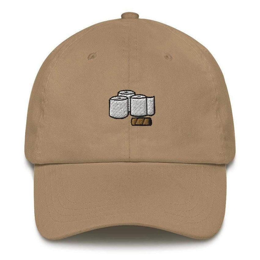Dadrack Khaki toilet paper rolls dad hat