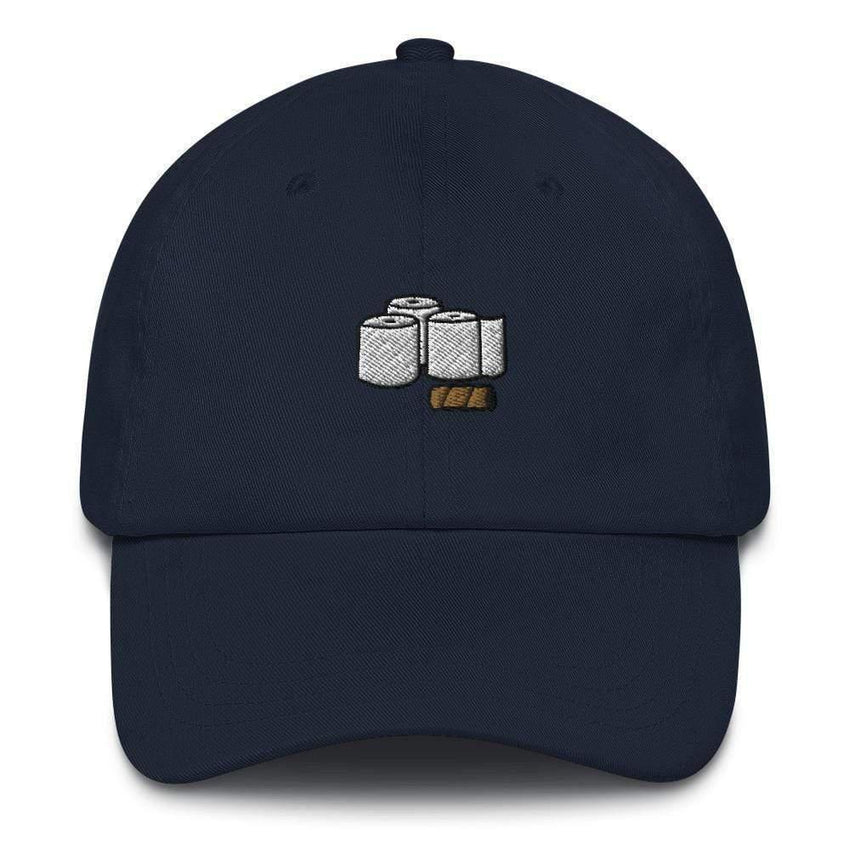 Dadrack Navy toilet paper rolls dad hat