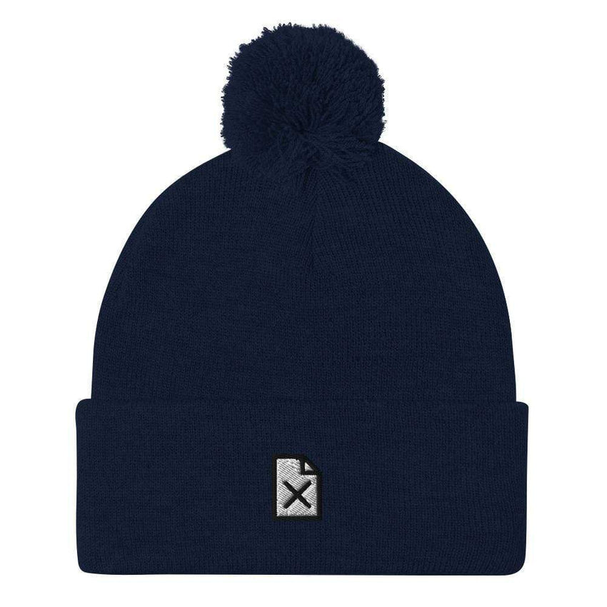 dadrack Pom Pom Knit navy file not found pom pom beanie