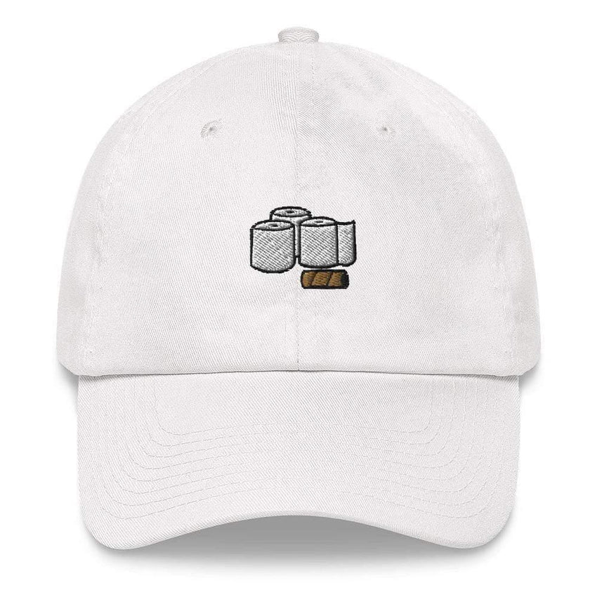 Dadrack White toilet paper rolls dad hat
