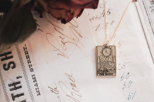 The Moon Tarot Necklace
