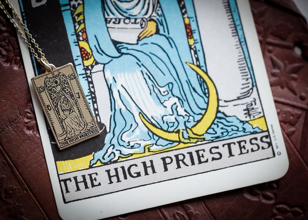 The High Priestess Tarot Pendant & Chain