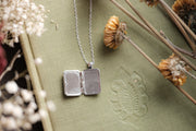 Silver Plated Spell Book Locket