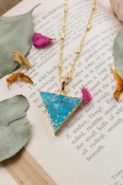 Sacred Geometry Blue Howlite Necklace