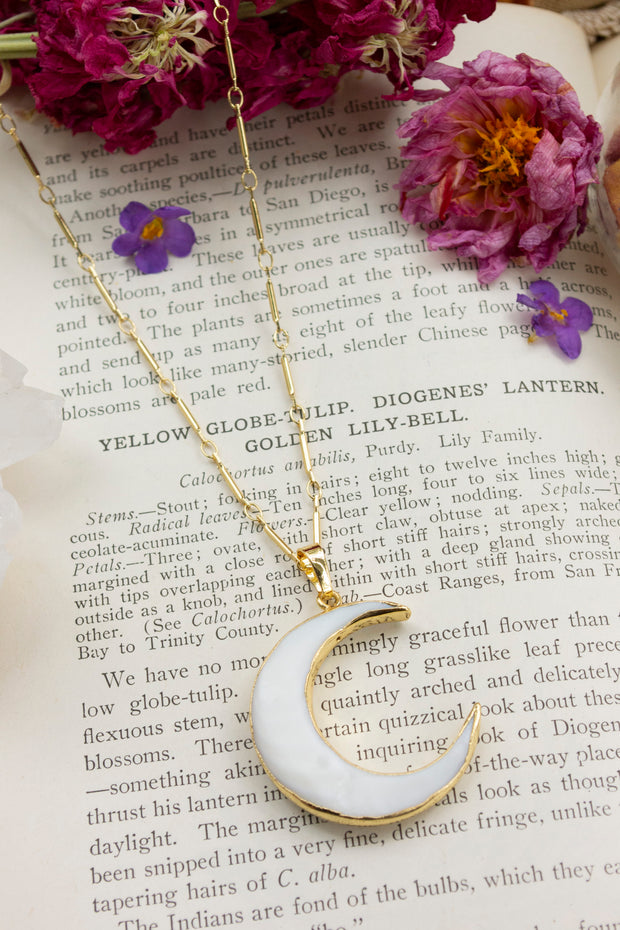 Slice of the Moon- Crescent Moon Necklace