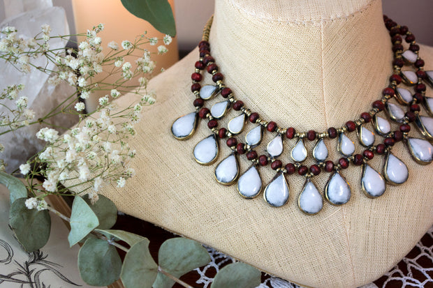 Moon Drops Kuchi Necklace
