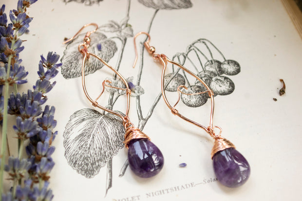 Amethyst Waves Earrings