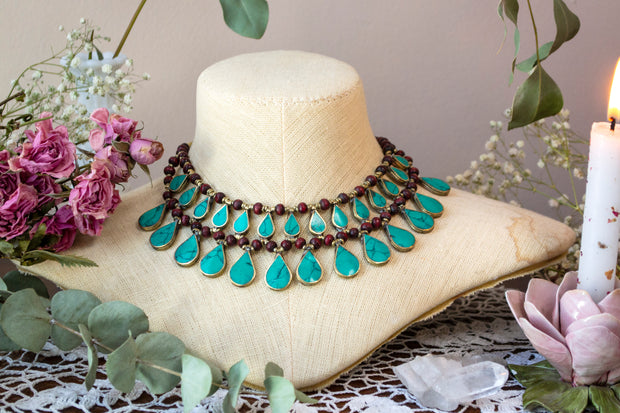 Turquoise Tears Kuchi Necklace