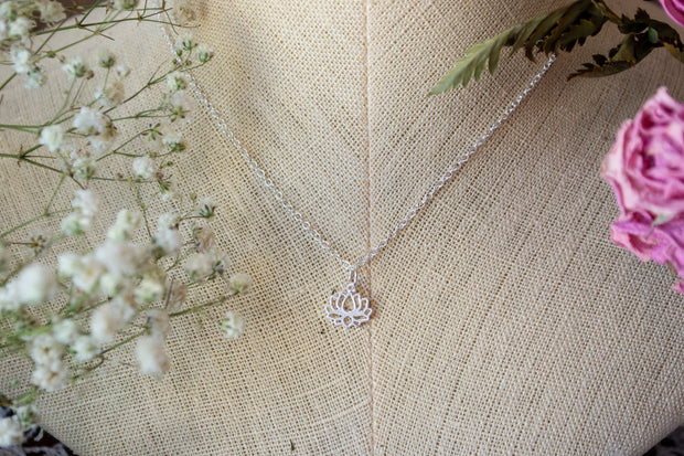 Lotus Flower Layering Necklace