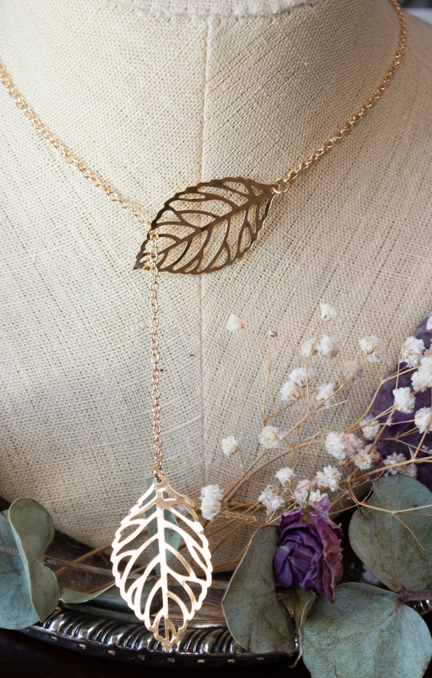 Golden Leaf Necklace