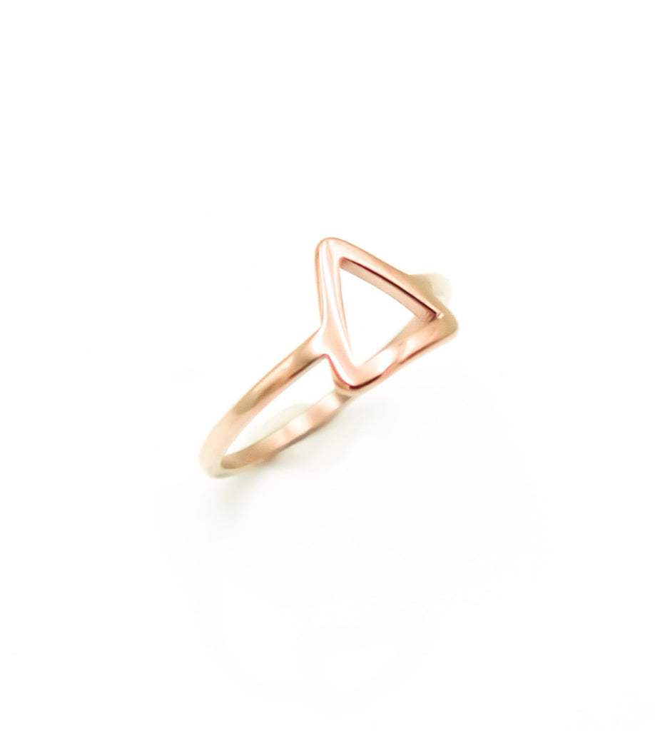 Pyramid Ring (Rose Gold)