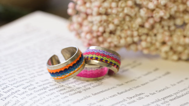 Woven Peruvian Blanket Rings