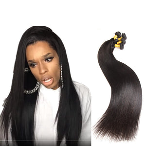 32 34 36 38 40 Inches Brazilian Straight Virgin Hair Weaves 100% Unprocessed Human Hair Extensions