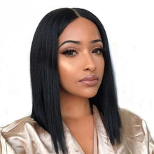 Load image into Gallery viewer, Halo Lady Hair Short Bob Cut Human Lace Front Wigs Brazilian Straight 4x4 Lace Bob Wig For Women - Halo Lady Hair
